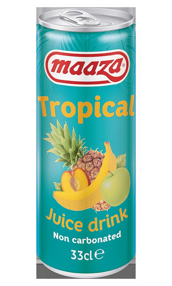 Tropical 33cl sleek can